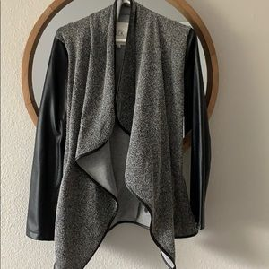 Leather and tweed jacket